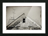 Top of the house Picture Frame print