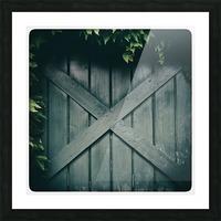 Green Doorway Picture Frame print