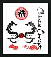 Chinese Concept 29A Picture Frame print
