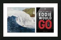 2015 QUIKSILVER - EDDIE AIKAU Big Wave Invitational Surfing Competition Print Picture Frame print