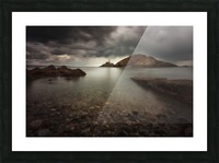 Rough weather over Mumbles lighthouse Picture Frame print