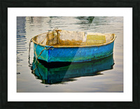 Anchored Boat at Dawn Picture Frame print