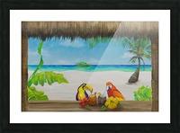 Beach tiki  Picture Frame print