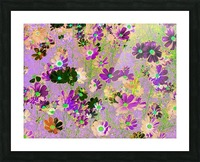 Flowers Garden Purple Picture Frame print