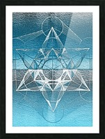 Cube of Metatrone Handdrawing Picture Frame print