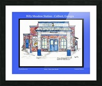 Billy Meadow Station Georgia Picture Frame print