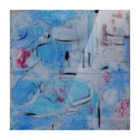 twombly blue Picture Frame print
