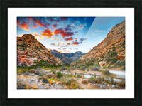 Sunset at Red Rock Canyon Nevada   Picture Frame print