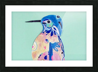 Azure Kingfisher  Picture Frame print