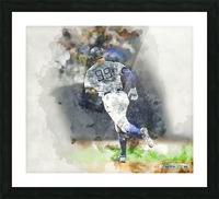 AARON JUDGE Water Color Print - New York Yankees print Picture Frame print