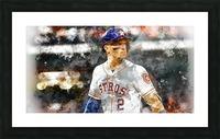 ALEX BREGMAN Water Color Print - Houston Astros print  Picture Frame print