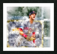ANDREW BENINTENDI Water Color Print - Boston Red Sox Print Picture Frame print