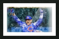 ANTHONY RIZZO Water Color Print - Chicago Cubs Print Picture Frame print