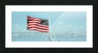 Old Glory Newport Harbor Rhode Island Picture Frame print