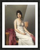 A woman standing Picture Frame print