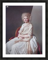 Portrait of Anne Marie Picture Frame print