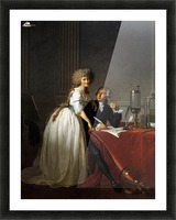 Portrait of Antoine Laurent and Marie Anne Lavoisier Picture Frame print