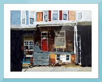 Hampden Rowhouse Picture Frame print