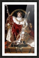 Napoleon on his imperial throne Picture Frame print