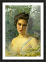 Portrait of a young woman Picture Frame print