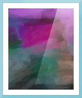 Magenta and Green Picture Frame print