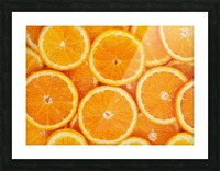 orange Picture Frame print