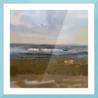 The Surf at Sunset Picture Frame print