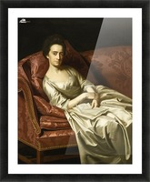 Portrait of a lady sitting Picture Frame print