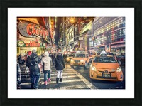 New York City Taxi Mayhem  Picture Frame print