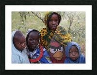 Faces of Africa Picture Frame print