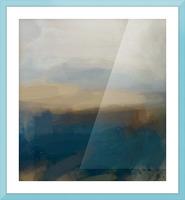 Lapis Blue Landscape Picture Frame print