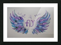 What if you fly  Picture Frame print