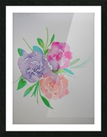 Watery roses Picture Frame print