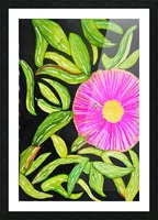 Coastal Flower Picture Frame print