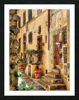 Around The Corner in Cortona Picture Frame print