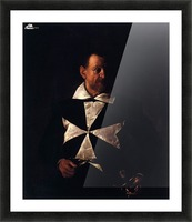 Portrait of a Maltese Knight Picture Frame print