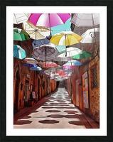 Festa Umbrellas Paciano With Shadows Picture Frame print