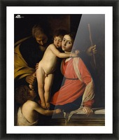 The Holy Family with the Infant St. John the Baptist Picture Frame print
