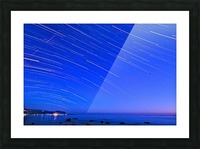 Dive of stars in the sea Picture Frame print