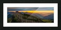 sunset at Chäserrugg Picture Frame print