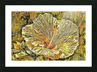 Fanciful Floral Picture Frame print