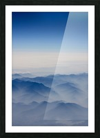 Japanese Mountains Picture Frame print