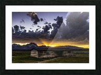 Pioneer Cabin sunset Grand Tetons Picture Frame print