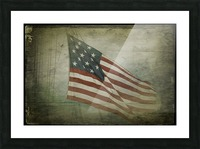 Fifteen Star Flag Picture Frame print
