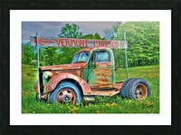 Cheese Truck Spring  621 Picture Frame print