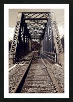 Over the Bridge Picture Frame print