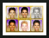 Halle Berry pop star celebrity  Picture Frame print