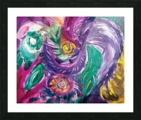 purple tones abstract Picture Frame print