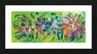 abstract multicolored flowers Picture Frame print