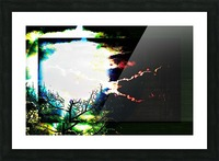 Dark Sun Picture Frame print